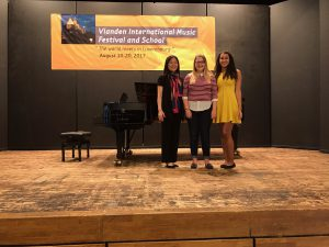 Piano students and faculty at Vianden International Festival