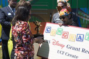 Disney grants an award to UCF CREATE