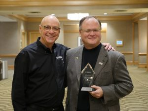 John Wittmann, Jeff Moore with Yamaha Legacy in Education Award
