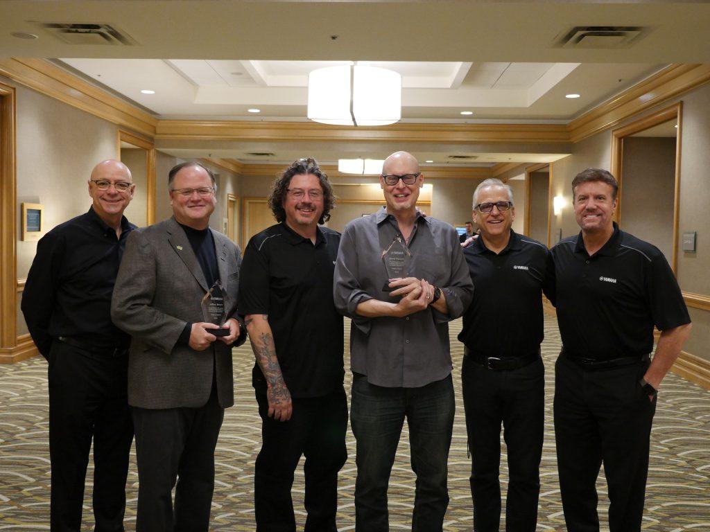 From left to right: John Wittmann, Yamaha; Jeffrey Moore, Award Recipient; Greg Crane, Yamaha; David Stanoch, Award Recipient; David Jewell, Yamaha; Steven Fisher, Yamaha.
