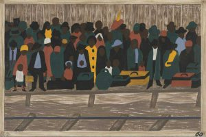 "Jacob Lawrence's ""Great Migration"" (Photo credit: MOMA)"