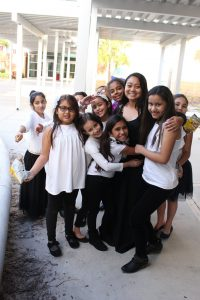 Angelica Chen with her students