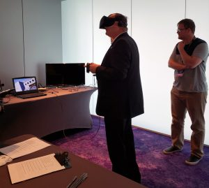 Dean Jeff Moore tests Middle Passage VR