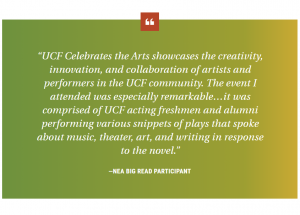 UCF Celebrates the Arts showcases the creativity, innovation and collaboration of artists and performers in the UCF community.