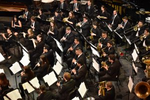 The UCF Wind Ensemble performs at UCF Celebrates the Arts in April 2019