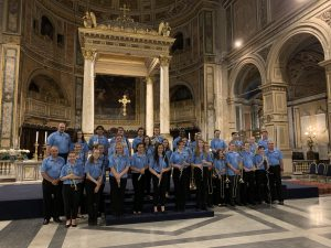 UCF Staff Member Dave Schreier leads students from Youth Bands of Orlando on trip to Italy