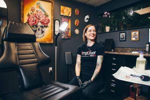 Stacie Becker in her studio in Altamonte Springs.
