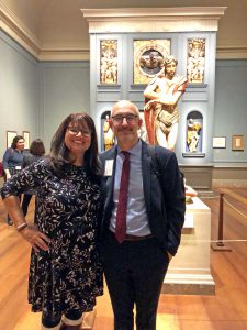 Dr. Ilenia Colón Mendoza with colleague of the National Gallery of Art in Washington D.C.