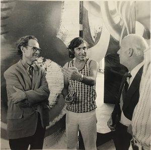 "Eyfells and Gaudnek Entitled ""Walter Gaudnek a tribute to President Millican"""