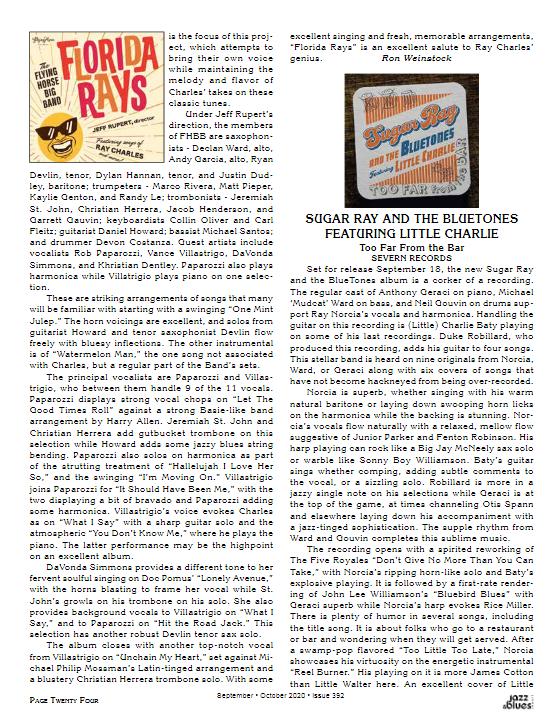 A review from Jazz and Blues Magazine