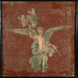 "Artwork: ""Fresco with Trophy"" © National Archaeological Museum of Naples (Giorgio Albano)."