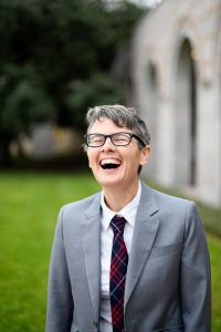 Photo of Ann Gleig laughing