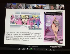 UCF students attend a lecture on comics as part of the the Week of the Italian Language in the World