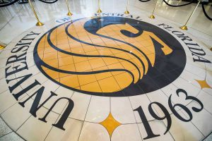 UCF Pegasus Seal in the Student Union