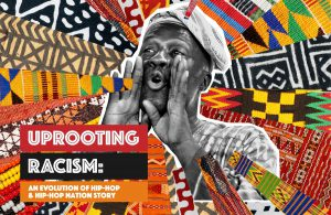 Graphic promoting the upcoming John T. Washington Lecture Series: Uprooting Racism