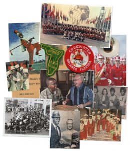 """A collage of images from the documentary """"Marching Forward"""""""