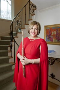 Nora Lee Garcia poses with her Flute