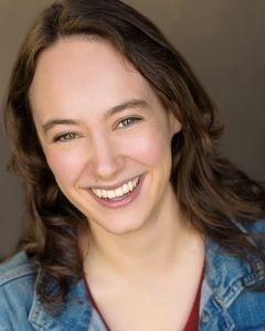"Sarah Hubert, a Theatre MFA intern performing in ""Kiss Me, Shakespeare!"""
