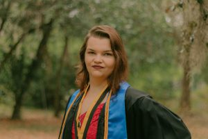 Tiffany Sidders, an English alumna who research literature in Holocaust education
