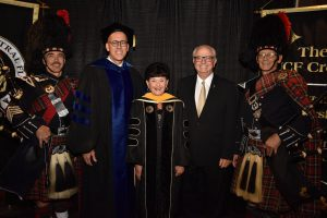 Judy Duda graduates with her honorary doctorate from UCF