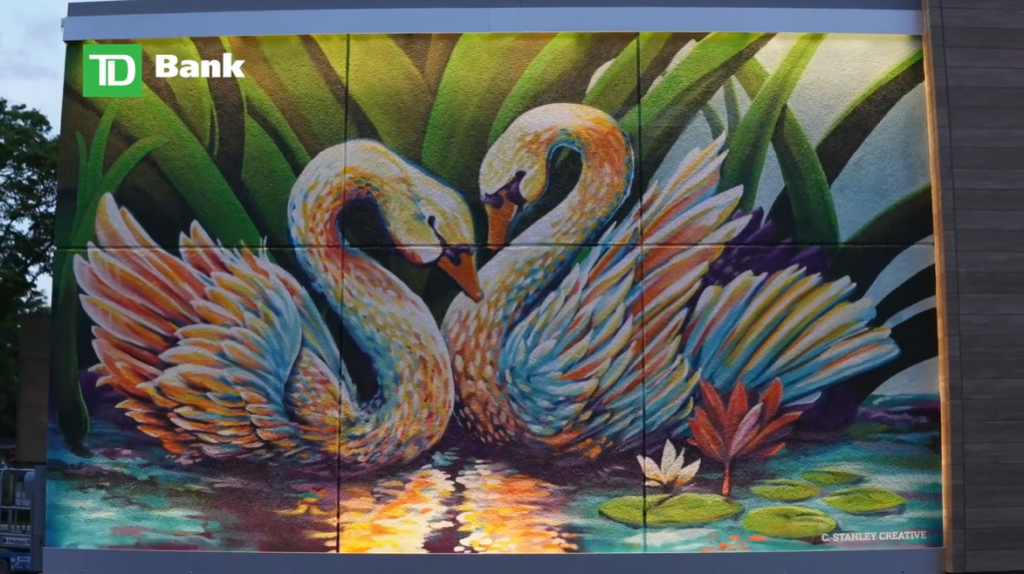 """""""The Colors of Orlando: Prismatic,"""" painting on the outside of a TD Bank"""