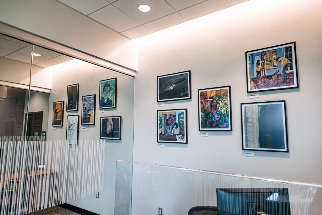 Art by SVAD students in the newest TD Bank location